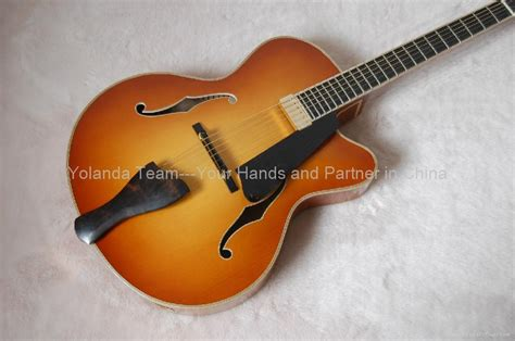 Handmade Electric Guitar - handmade electric jazz guitar yl 15hs hotman china