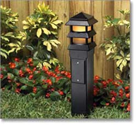 Outdoor L Post With Electrical Outlet by Arlington Industries Gp19b 1 Gard N Post