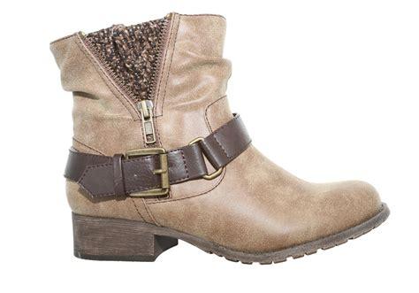 jelly pop boots womens jellypop rosalie side zip boot brown