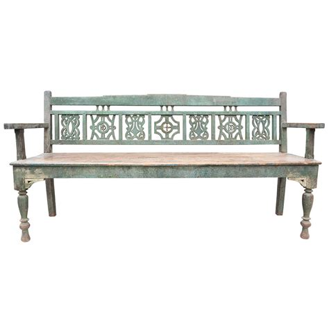 settle bench for sale early 19th c painted marriage settle bench at 1stdibs