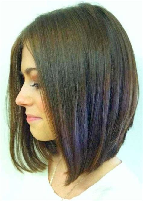 how to cut a bob shaped in a v at the nape 27 beautiful long bob hairstyles shoulder length hair
