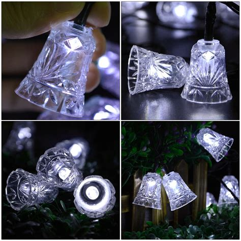 Solar Powered 30 Led String Light Bell Covers Party Xmas String Light Covers