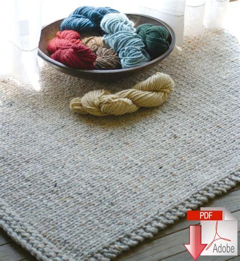 rug yarn patterns knitted rectangular rug pattern knitting pattern halcyon yarn