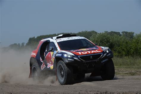 peugeot dakar 2015 rally team up to position 4