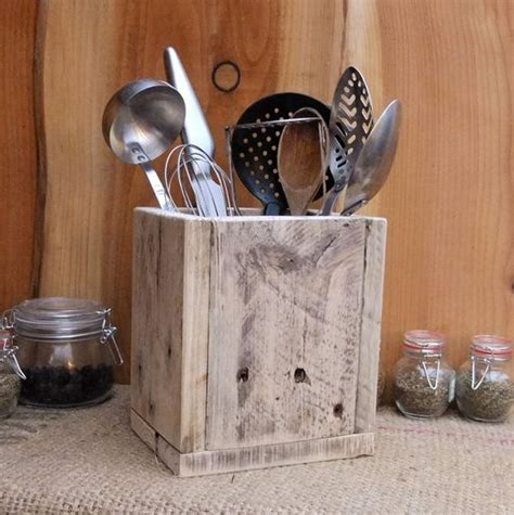 kitchen utensil holder ideas rustic kitchen utensil storage holder reclaimed wood