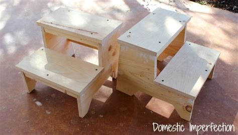 Diy Child Step Stool by Step Stool With Yardstick Steps Building