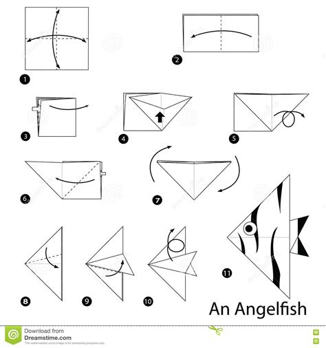 How To Make An Origami Angelfish - step by step how to make origami an angelfish