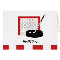 hockey net thank you note card zazzle