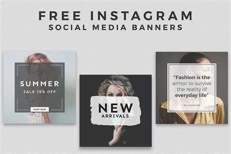 3 Free Instagram Social Media Banner Templates Creativetacos Social Media Banner Templates Free