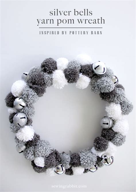 Best Quality Pompom Silver 17 best images about pompom wreaths on yarn wreaths wool and wreaths