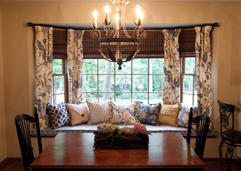 dining room bay window curtains for bay windows dining room traditional with bay