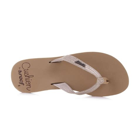 comfort toes womens reef star cushion rose gold soft comfort toe post