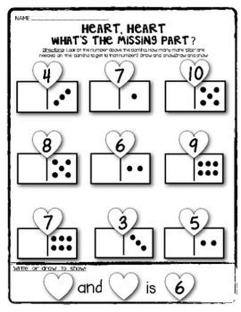 Decomposing Numbers Kindergarten Worksheets by Domino Math Worksheets Composing And