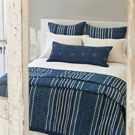striped quilts and coverlets district17 resist stripe indigo coverlet quilts coverlets