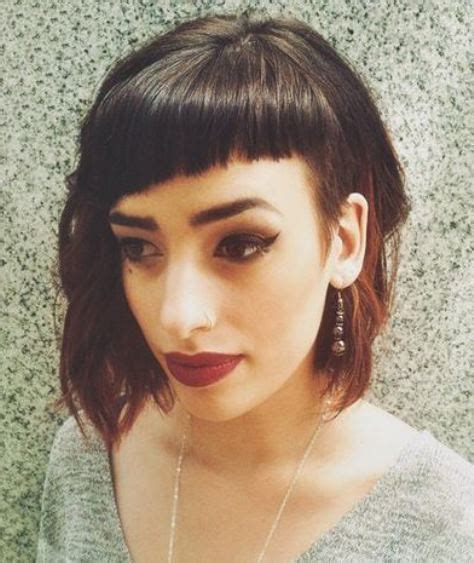 hairstyles with diagonal bangs lob with side bang blackhairstylecuts com