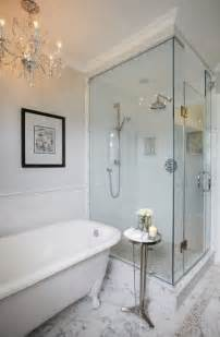 Bathtub In Shower Enclosure Elegant Master Ensuite Traditional Bathroom Toronto