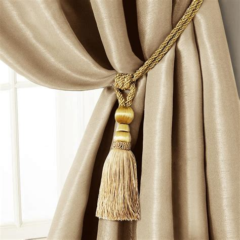 curtain accessories amelia 24 in tassel tieback rope cord window curtain