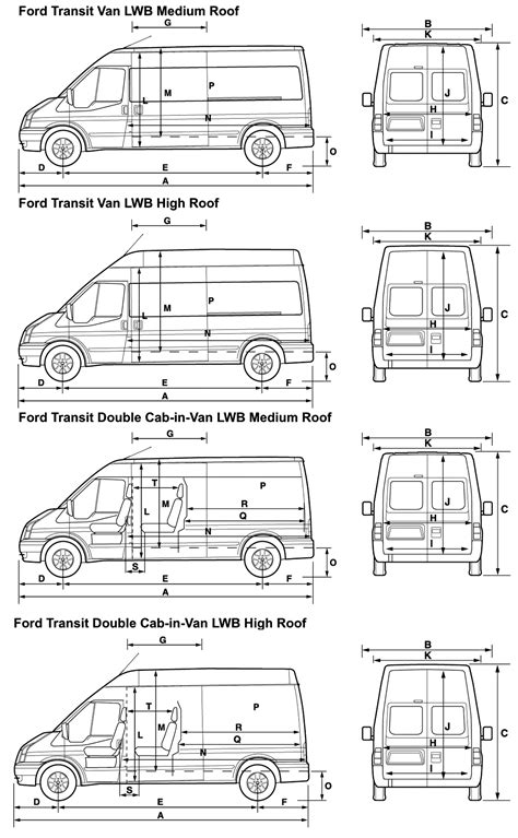 Ford connect lwb van dimensions