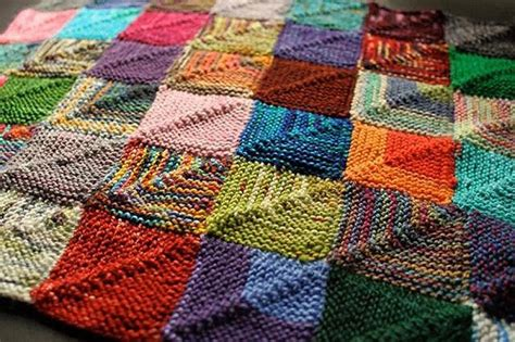 Knitted Patchwork Quilt - 52 free and easy patchwork quilt patterns with images my