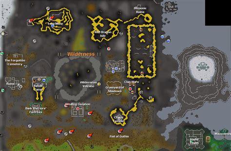 osrs runescape wilderness map wilderness survival guide the runescape wiki