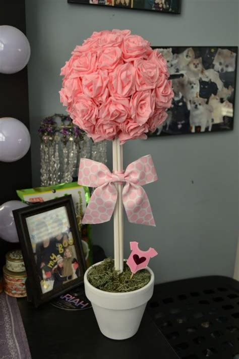 topiary centerpieces for baby shower baby shower decorations balloon topiary topiary