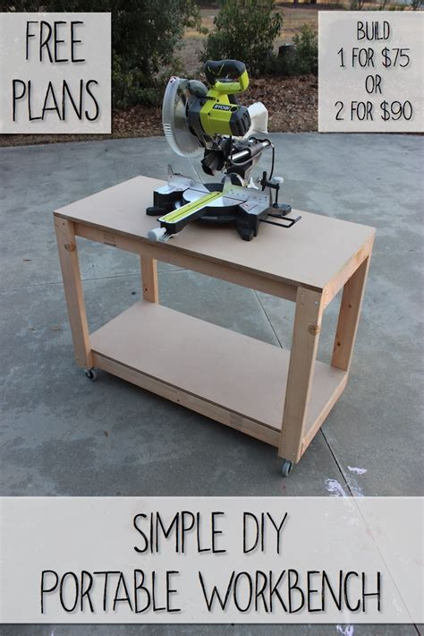 diy portable woodworking bench easy portable workbench plans rogue engineer