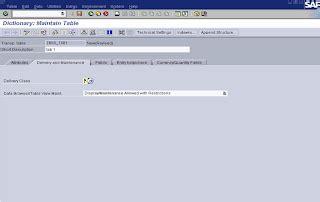 sap abap tutorial with screenshots sap abap with screenshots creating tables