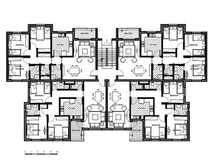 Awesome Unit Apartment Building Plans Contemporary Home Design