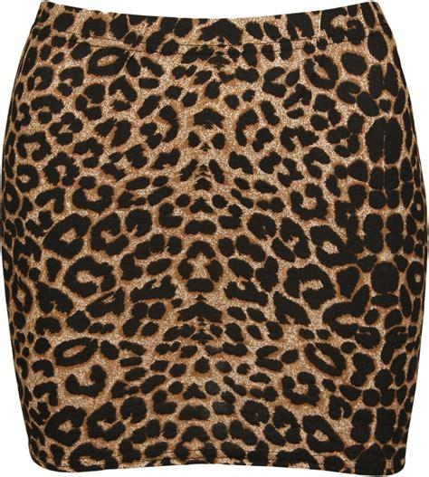 womens leopard print bodycon mini animal
