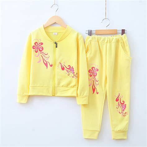 Perlak Set Baby You 8 new autumn clothing sets baby lovely flower color sports suits