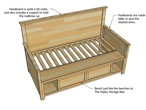 Diy Daybed Frame Plans Diy Wooden Bench More Bed Woodworking Plans Using Router