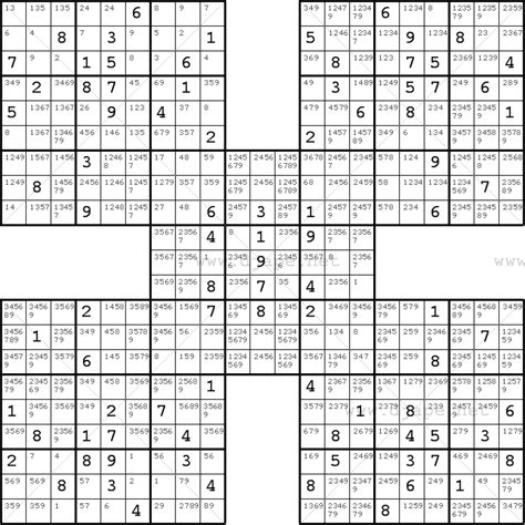 printable sudoku 5 in 1 diagonal sudoku samurai