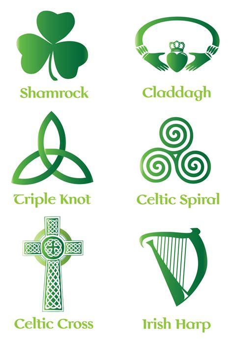 free logo design ireland irish celtic symbol vector set backgrounds buttons