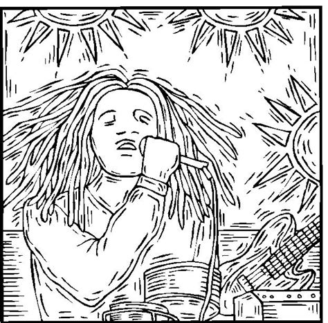 bob marley coloring page coloring home