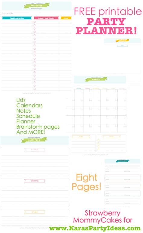 printable event planner 7 best images of event planner free printable free