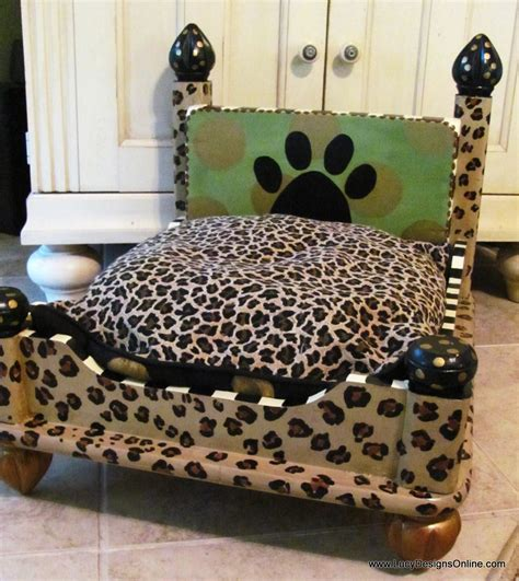 animal beds dog bed from an end table leopard print lucy designs