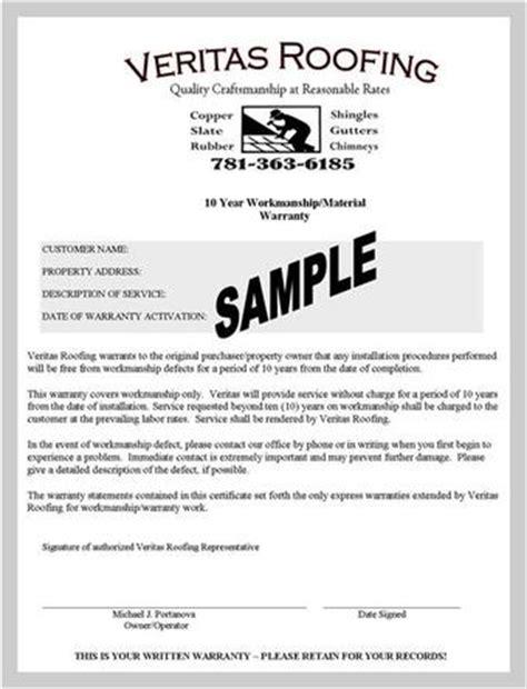contractor workmanship warranty template