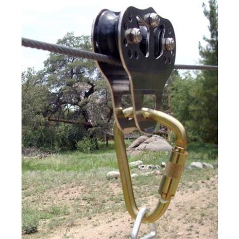 wire rope zip line cat zip trolley for 5 8 quot and 3 4 quot cable or rope
