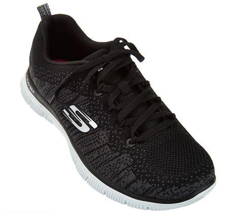 Skechers Knit Flats by Skechers Flat Knit With Memory Foam Sneakers Jump Black