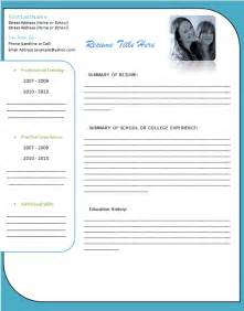 Resume Free Templates Microsoft Word by Student Resume Template