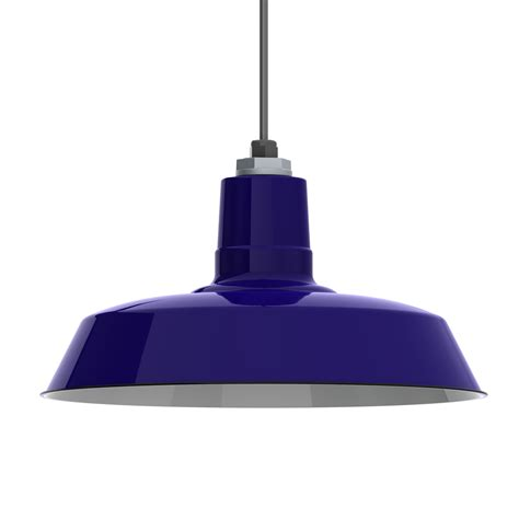 Blue Light Fixtures Ivanhoe 174 Sky Chief Porcelain Enamel Pendant Barn Light Electric