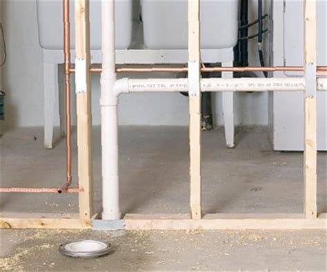 Wall Plumbing by Building A Wall How To Install A New Bathroom Diy