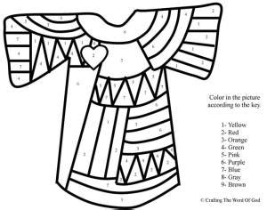 joseph dreamcoat coloring pages josephs coat of many colors color by number 171 crafting