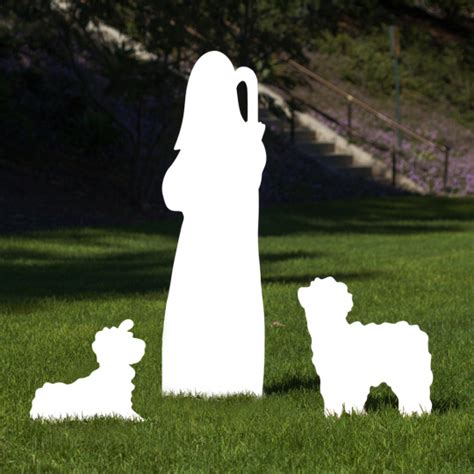 outdoor nativity large silhouette outdoor nativity set