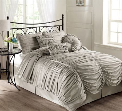 gray ruched comforter gray bedding is lovely webnuggetz com