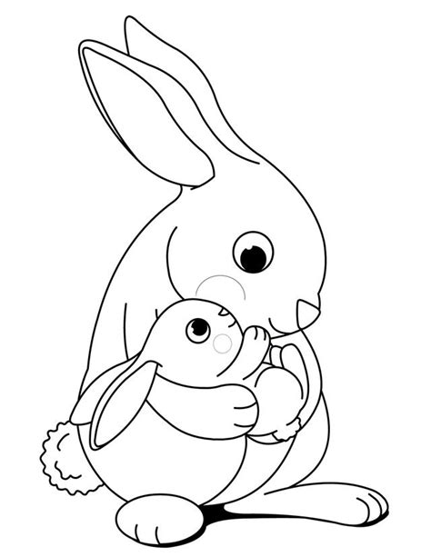cartoon rabbit coloring pages