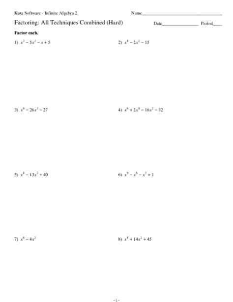 factoring ax2 bx c worksheet answers factoring trinomials of the form ax2 bx c worksheet answers worksheets tutsstar thousands of