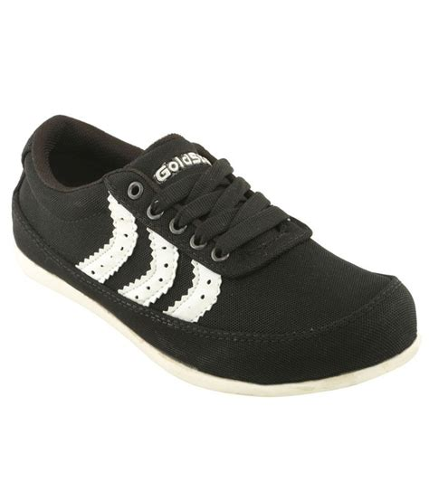 goldstar sports shoes goldstar black canvas sports shoes price in india buy