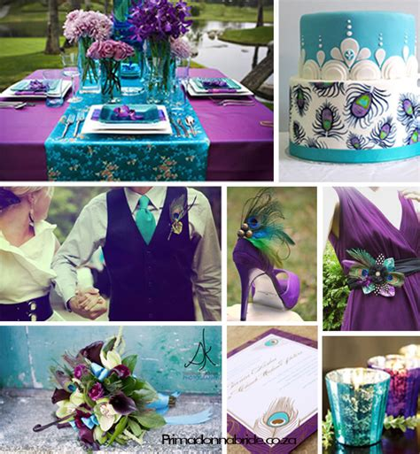 purple and turquoise wedding purple primadonna