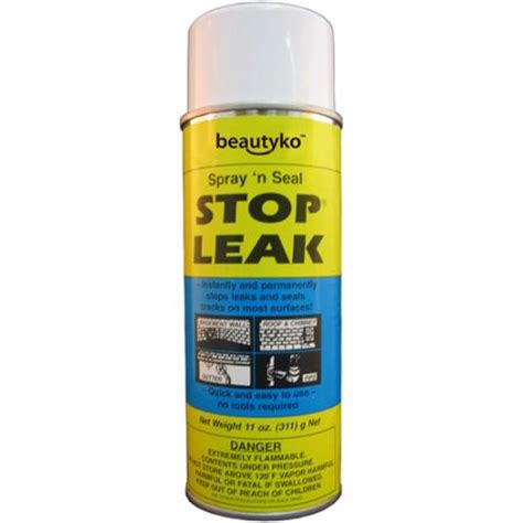 Stop Plumbing Leaks by Spray N Seal Stop Leak Green Home